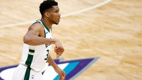 Bucks' Antetokounmpo misses Bulls game with sprained ankle
