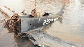 World War II-era plane pulled from Lake Michigan goes on display