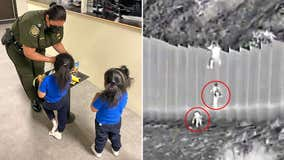 Fox News obtains photo of 2 girls rescued after being dropped over border wall