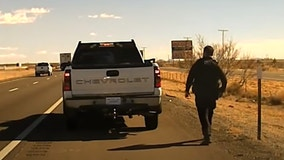 New Mexico police officer shot in the head during routine stop, video shows