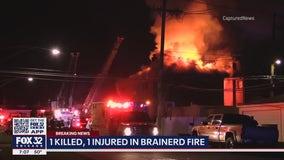 Man killed, woman seriously hurt in Brainerd fire