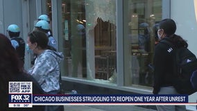 Chicago businesses struggling to reopen one year after unrest