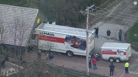 U-Haul truck gets stuck on bridge in Long Grove