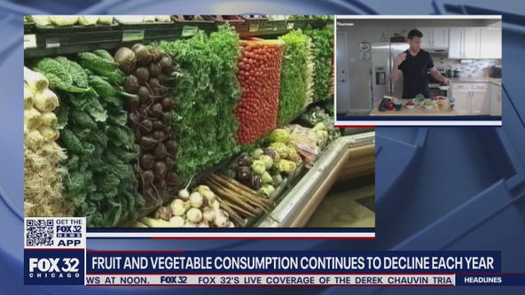 Fruit, vegetable consumption continues to decline each year