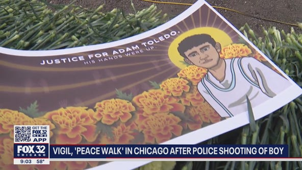 Vigils for Adam Toledo, 13-year-old killed by police, held in Chicago, Evanston