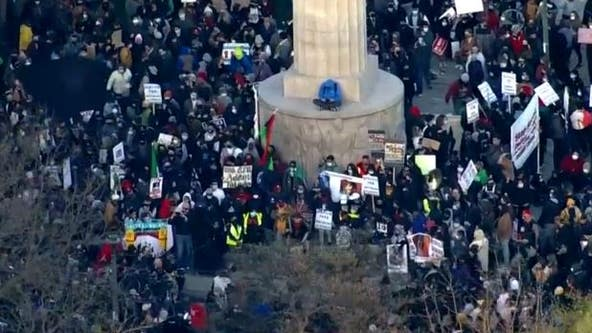 Adam Toledo Protest: Thousands gather in Logan Square demanding justice following video release