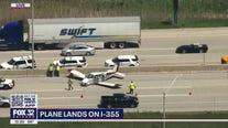 Plane makes emergency landing on I-355, injuring 3