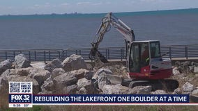 Major effort underway to protect Portage Lakefront and Riverwalk after years of erosion