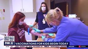 Vaccinations begin today across the Chicago area for children as young as 12