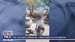 Image of Park Ridge teens recreating George Floyd death outrages community