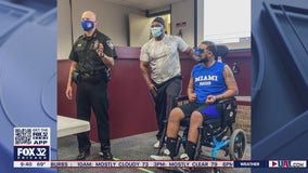 Park Forest police receive surprise visit from a hero
