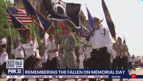 Arlington Heights pays tribute to 58 military personnel who lived in the suburb with drive-by salute