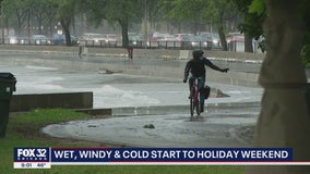 Memorial Day weekend kicks off with rain, wind, cold and no sunshine