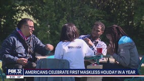 Chicagoans enjoying first mask-free holiday weekend in more than a year