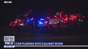 Car plunges from bridge into Calumet River, killing father and injuring son