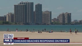 Chicago beaches to reopen Friday for Memorial Day weekend