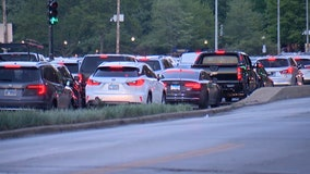 Man walks into traffic and is hit by car on Lake Shore Drive near the Gold Coast