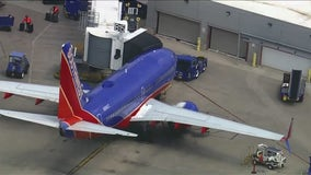 2 Southwest Airlines planes make contact with each other at Midway International Airport