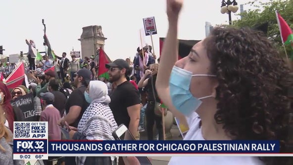 Thousands rally in Chicago on behalf of Palestinian people amid ongoing fighting with Israel