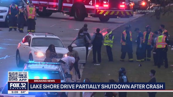 One person killed in fiery crash on Lake Shore Drive