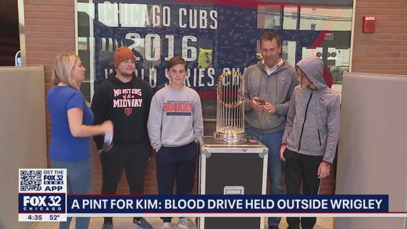 'A Pint for Kim': Baseball takes a back seat at Wrigley Field for mobile blood drive