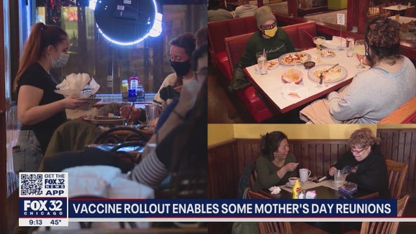 Vaccine rollout enabling more Mother's Day reunions in Chicago area
