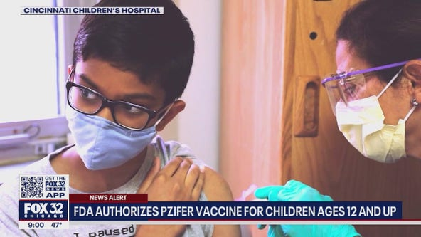 Pfizer vaccine approved for children ages 12 to 15