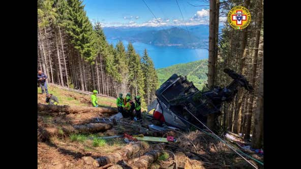 Cable car plunges to the ground, killing at least 9 in Italy
