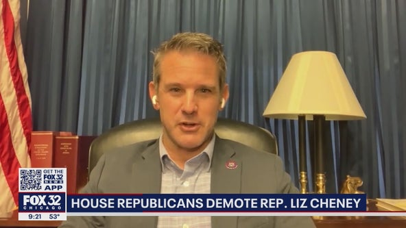 Illinois Rep. Adam Kinzinger stands by Rep. Liz Cheney after she's ousted as GOP leader