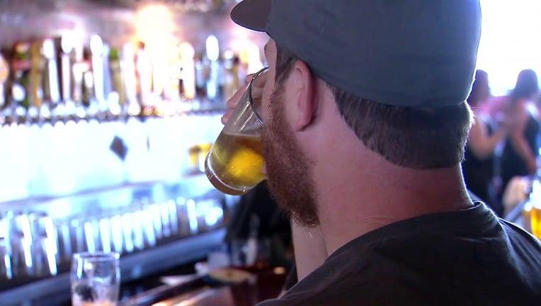 alcohol at bar