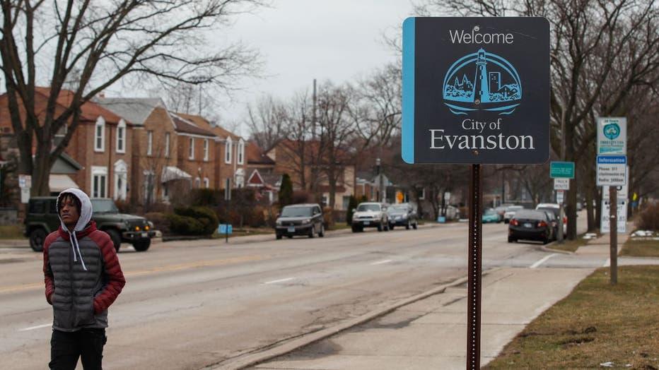 Evanston, Illinois sign