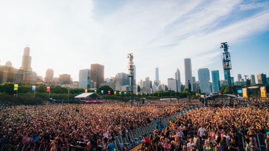 Lollapalooza Music Festival crowd