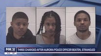 3 charged after Aurora police officer beaten, strangled