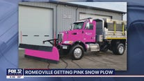 Romeoville getting pink snow plow