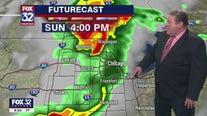 10 p.m. forecast for Chicagoland on June 19