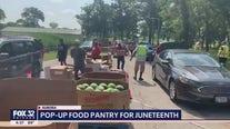 Black fraternity, sorority members host Juneteenth food giveaway