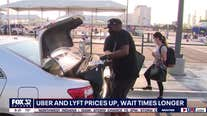 Increase in rideshare prices and longer wait times