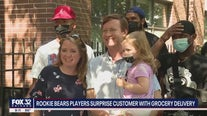 Rookie Bears players surprise Chicago family with grocery delivery