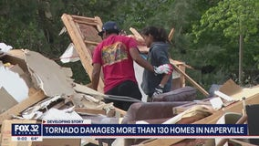 Cleanup underway after EF-3 tornado rips through Chicago suburbs