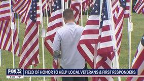 Flags at LaGrange park raising money for veterans, first responders