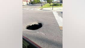 Massive hole in the ground reported on Chicago's South Side