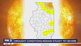 Drought conditions remain steady, yet severe in Illinois