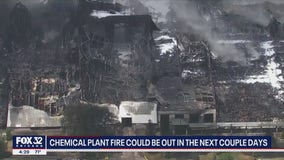 Chemical plant fire could be out in the next couple days