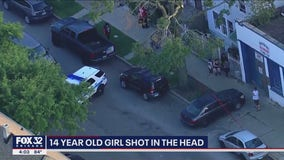 14-year-old Chicago girl shot in the head after being asked if she's in a gang