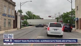 Freight train frustrations: Alderman says trains sitting still, blocking fire and medical services