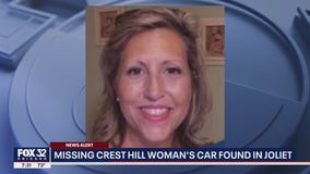 Missing Crest Hill woman's car found in Joliet