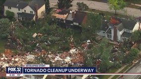 Cleanup underway after tornado strikes Chicago suburbs