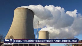 Exelon threatens to close 2 power plants after lawmakers fail to pass energy bill