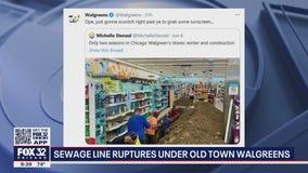 Sewage line ruptures under Chicago Walgreens