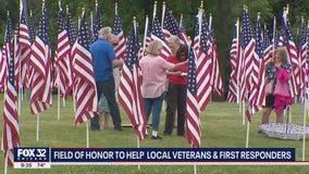 500 American flags at LaGrange park raising money for veterans, first responders